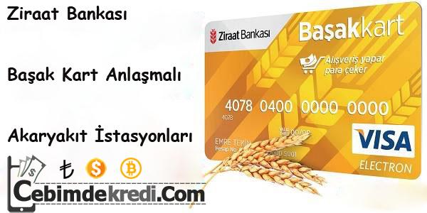 Ziraat Bankası Başak Kart Anlaşmalı Akaryakıt İstasyonları