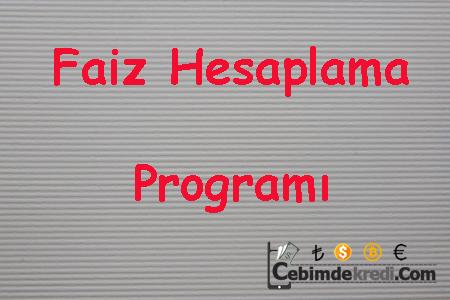 Faiz Hesaplama Programı