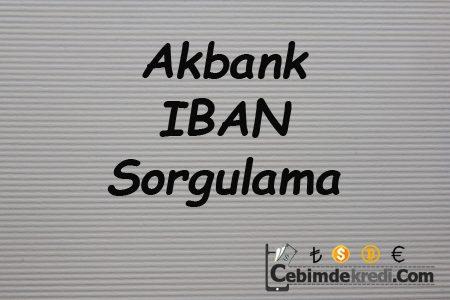 Akbank IBAN Sorgulama