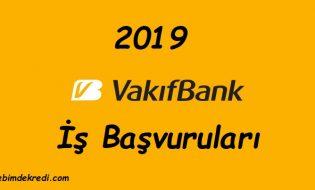 Vakıfbank 2019 Personel Alımı