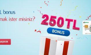 Denizbanktan 250 TL Bonus